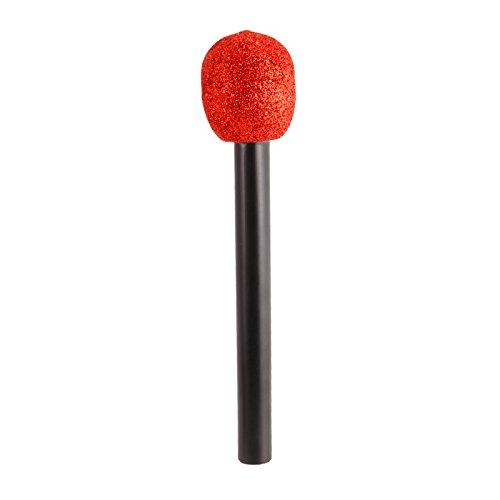 Glitzer Spielzeug Mikrofon Attrappe Mikrofon viele Farbe (Rot)