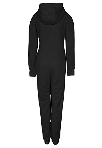 Eight2Nine Damen Sweat Overall | Kuscheliger Jumpsuit | Einteiler aus bequemen Sweat-Material einfarbig Black L/XL - 3