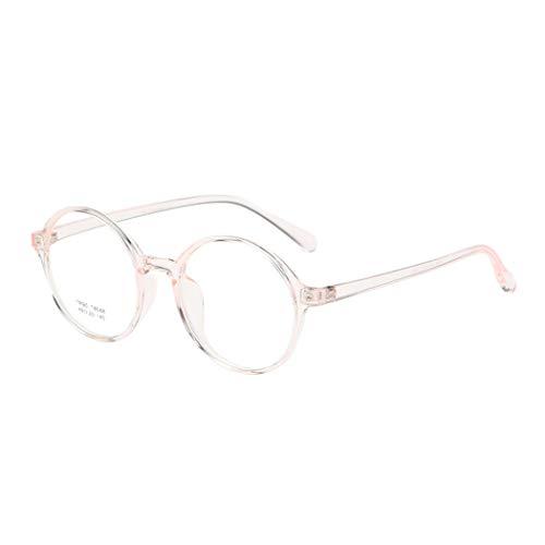 Brillengestelle Retro TR90 superleichter Brillenfassung Ohne Stärke Nerd Brille Unisex Clear Lens Glasses Brillen Fashion