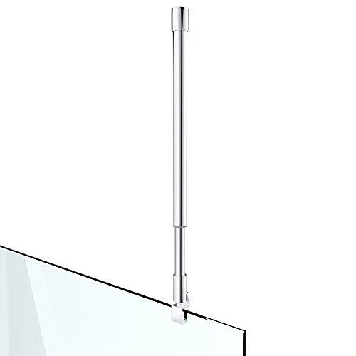 Haltestange Stabilisator für Duschwände Decke Duschwände Dusche Duschabtrennung Edelstahl rund Verstellung 700-1200 mm Glasstärken 6-10 mm GS31