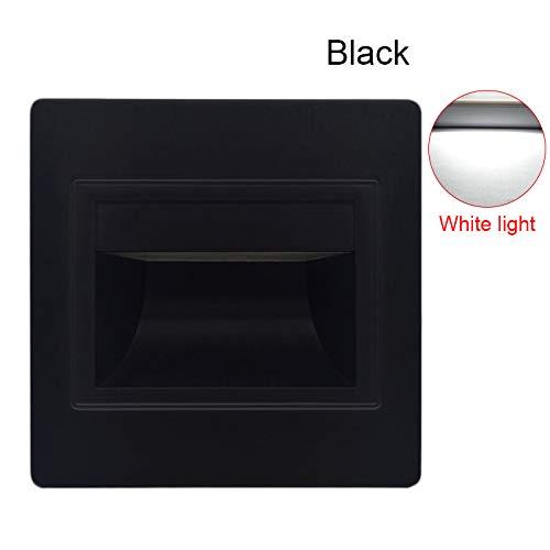 lzndeal Aplique encastrée LED Step Light 1.5W–Lámpara empotrada para peldaños de Estera
