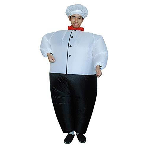 I-JUN Big Fat Chef Kostüm Lustige Overall Aufblasbare -