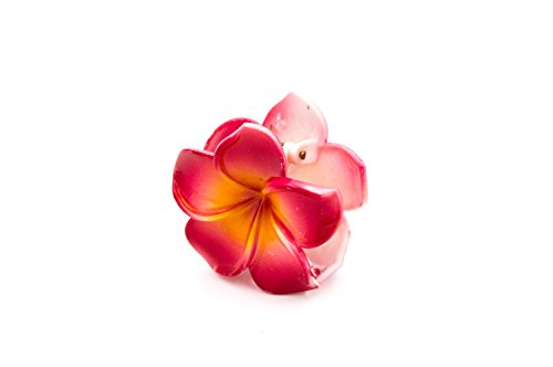 Hummerzange Hat Haar Blume Hibiskus Kunststoff–6cm–Rot–Zubehör Frisur
