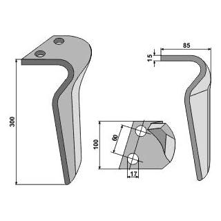 RH BRE 06 L - Kreiseleggenzinken, Ausführung links