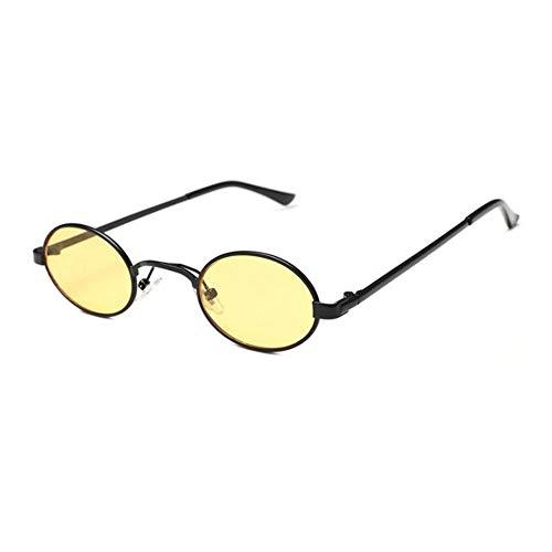 SWIMMM Retro Runde Sonnenbrille Stil Sonnenbrille Vintage Look Qualität UV400 Sonnenbrille Brille Männer Frauen Unisex Classic Eyewear (Farbe : Gelb)
