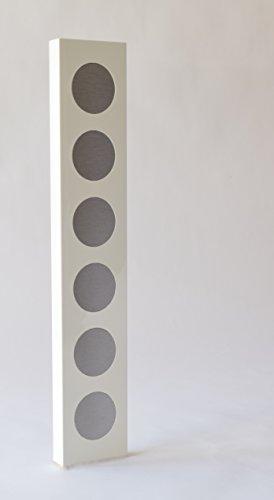 Rezeptchiphalter hochglanz weiß als Wandboard hoch passend für 6 Chips Thermomix TM5 in handwerklicher Arbeit hergestellt