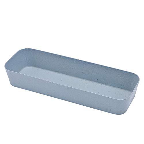 Ordnungsboxen für Kühlschrank Einstellbare Schublade Küchenbesteck Divider Obstteller Aufbewahrungsbox Home Organizer Unterschiedliche Größe(Blau,26.4x8.8x4.3cm)