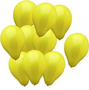 10 Globos Ø 25 cm amarillo
