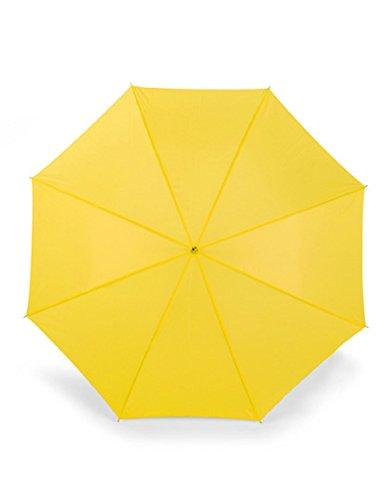 Bedruckbarer Stockschirm Automatik Holzgriff, Durchmesser: ca. 103 cm / Länge: 80 cm (Yellow)