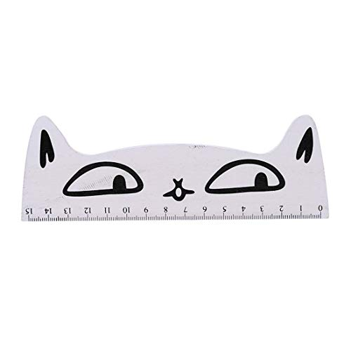 VWH Katzenmuster Lineal Schreibwaren Büro Schulbedarf Lineal(Weiß)