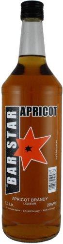 BAR STAR Apricot Brandy 1,0 l   Mix aus Weinbrand und Aprikosen   fruchtige Spirituose von Manhattan Spirits