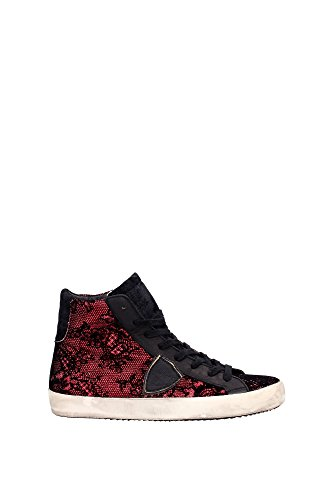 CLHDBQ02 Philippe Model Sneakers Damen Stoff Rot Rot