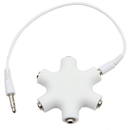 ultrics® Universal Kopfhörer-Splitter, 3,5mm Stecker zu 3,5mm Stecker weiblich Multi Kopfhörer Stereo Audio Splitter Kabel für iPhone Samsung Galaxy Note Nokia LG HTC PC Laptop (Fernbedienung Rca-schalter)