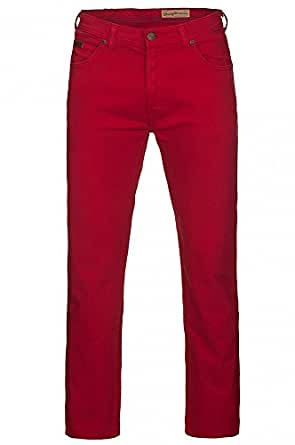 Wrangler Arizona - Jeans - Droit - Homme - Rouge (Jester Red) - W32/L34 (Taille fabricant: W32/L34)