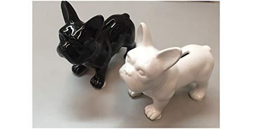 Vidal Regalos Hucha Resina Perro French Bulldog Negro 17 cm