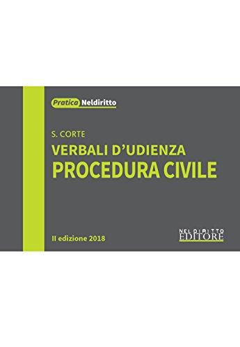 Verbali d'udienza. Procedura civile