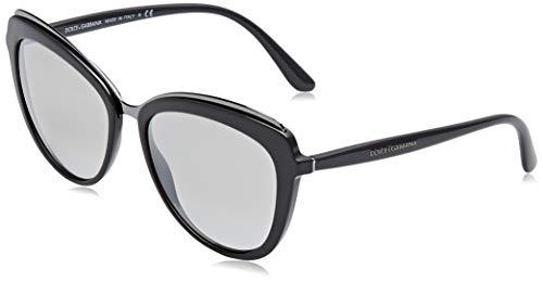 Dolce & gabbana 0dg4304 30906v 57 occhiali da sole, grigio (grey/greymirrorgradientsilver), donna