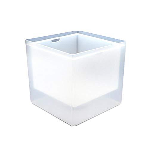 libelyef Led Eiswürfelbehälter Flaschenkühler Sektkühler Weinkühler Kühler Mit Schmelzwasser-Auffang-5 Farbwechsel 3.5L Für Wasser, Wein, Sekt, Champagner