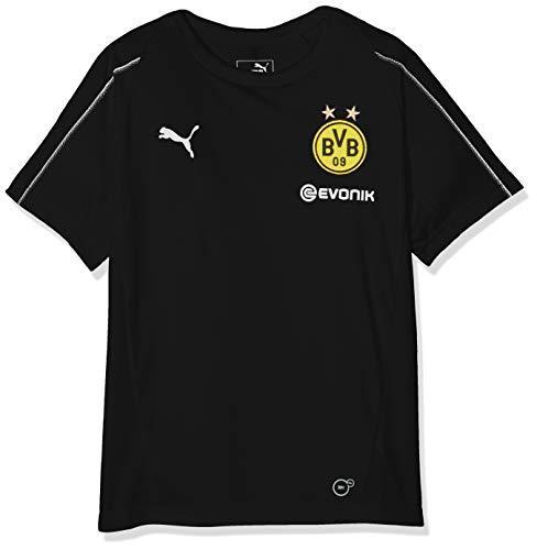 PUMA Kinder BVB Training Jersey Jr with Sponsor Logo T-Shirt, Black, 152