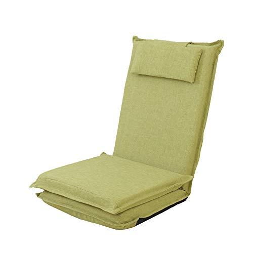 C-K-P Canapé, maison moderne minimaliste long dossier paresseux canapé tatami lit pliant simple canapé arrière fenêtre chaise (Couleur : Light green)