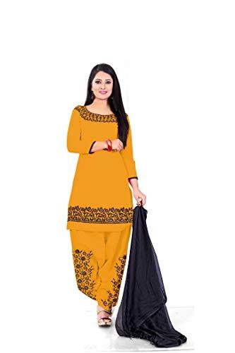 Aarna Fashion Cotton Embroidered Kurta & Patiyala Material (Un-stitched)