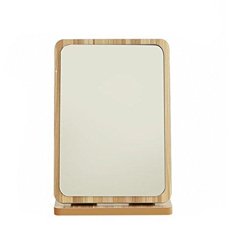 Wooden Folding HD Desktop Make-up Mirror Miroir de toilette portable Fashion Lovely Marry Magnifying the Mirror ( taille : M )