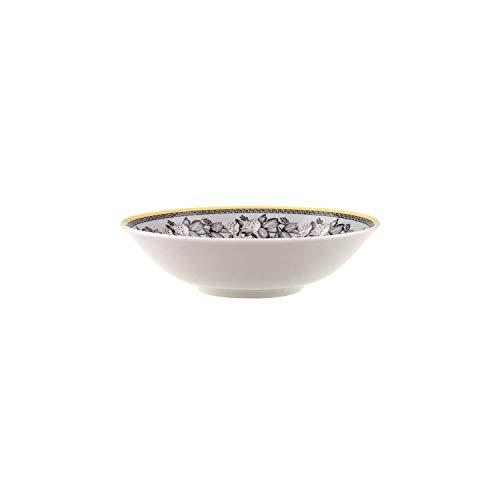 Villeroy & Boch Audun Ferme Coupelle à dessert, Porcelaine Premium, Blanc/Gris