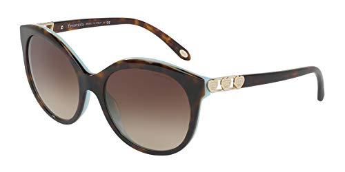 Tiffany & Co. Damen 0TY4133 82163B 56 Sonnenbrille, Blau (Havana/Blue/Browngradient)