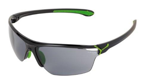 Cébé CBCINETIK3 Cinetik L - Gafas de sol con cristales intercambiables, montura color negro y verde, talla L
