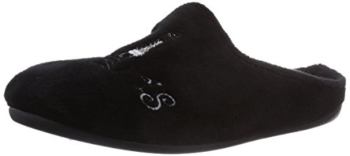 Florett - Pantofole, Donna Nero (Schwarz (schwarz 60))