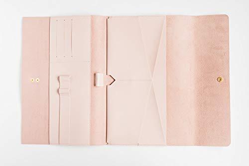Glas Leiter CO Vegan Leder Kupplung | Premium Kunstleder Reisetasche Organizer-Travel iPad 9,7case| grau Leather|Single Folio Fall