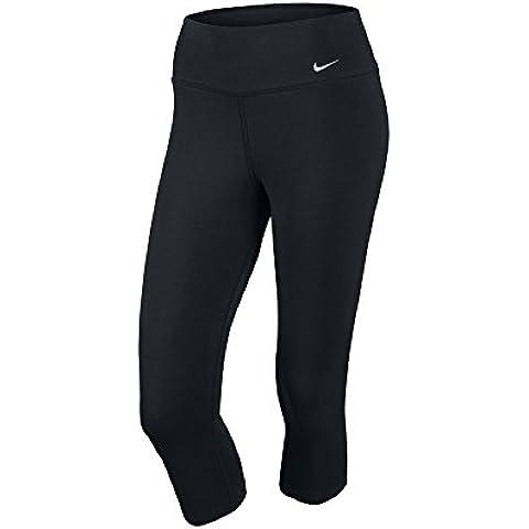 Nike Legend 2.0 TI DFC Capri - Pantalón de fitness para mujer, color negro / blanco, talla M
