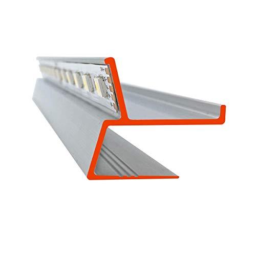 iluminize LED Trockenbau-Profil zum Herstellen einer Schattenfuge für 12,5 mm Gipsplatten, 150 cm lang (SF Schattenfuge)