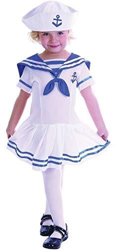 Kostüm Militär Matrosen - Fancy Me Jungen oder Mädchen Kinder Kleinkind Marineblau Matrose Uniform Militär Kostüm Kleid Outfit 2-3 J - Mädchen, 2-3 Years