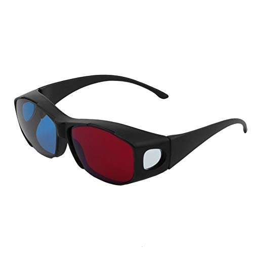 Universal Typ 3D Brille TV Film Dimensional Anaglyph Video Frame 3D Vision Brille DVD Spiel Glas Rot Und Blau Farbe (Color : Black)