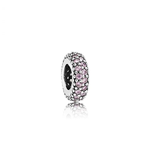 Pandora Damen-Bead-Zwischenelement Pavé-Inspiration 925 Silber Zirkonia rosa - 791359PCZ