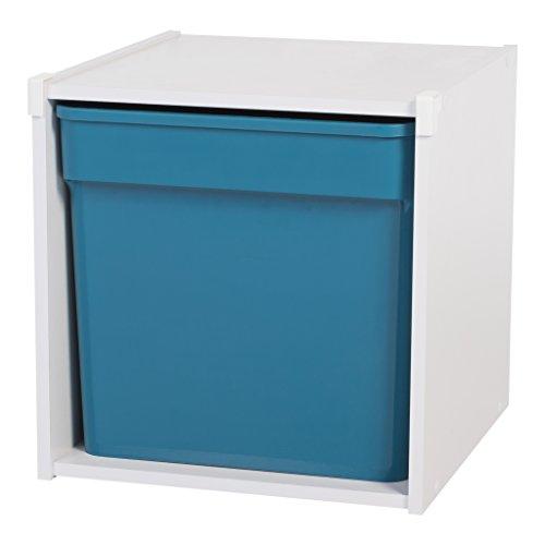 IRIS, Schrank KCX-1, 1 Fach, Holz, weiß, 34,6 x 35,1 x 34,6 cm -