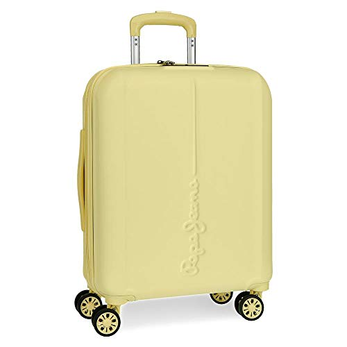 Pepe Jeans Glasgow Yellow Rigid Cabin Trolley