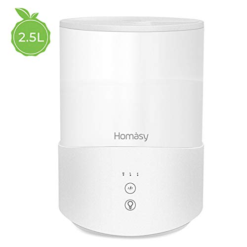 Homasy 2.5L Humidificateur d'air, Diffuseur d'Huiles...