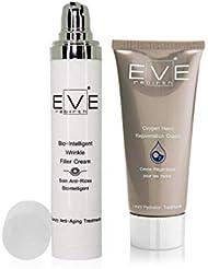 EVE REBIRTH Kit : Soin Anti-Rides Bio-Intelligent, 50 ml + Crème Régénérante pour Mains, 100 ml