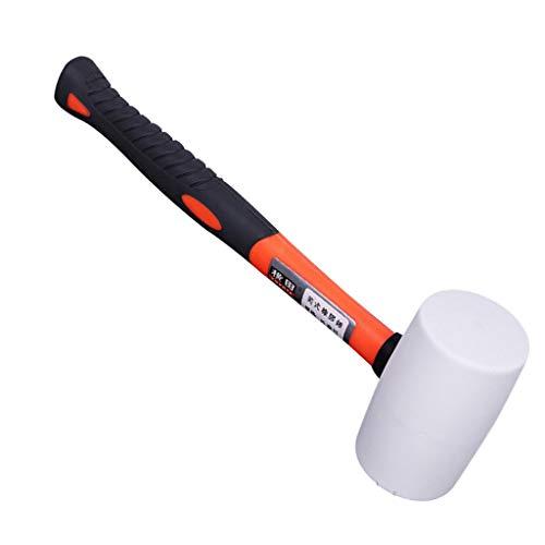 SM SunniMix Hochwertige Pflastererhammer Plattenverlegehammer Hartgummihammer bei Pflasterarbeit - 566 g -