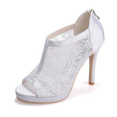 RTRY Donna Tacco Shoesstiletto Peep Toe Sandali Matrimoni/Parte &Amp; Sera Nero/Rosso/Bianco Avorio US5 / EU35 / UK3 / CN34