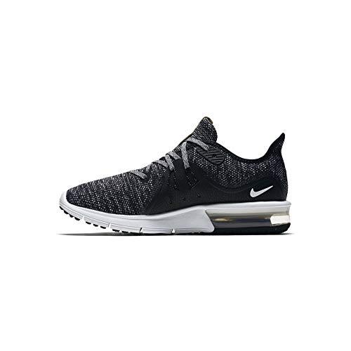 Nike Damen WMNS Air Max Sequent 3 Sneakers, Schwarz (Black/White/Dark Grey 001), 40 EU