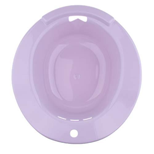 perfeclan Bidet Sitzbad Bidetbecken Sitzwanne Sitzbecken Einsatz-Bidet Kunststoff, Ungiftig, geschmacklos und langlebig - Lila, 38 cm