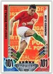 Match Attax England Euro 2012 Ronaldo Portugal 100 Hundred Club