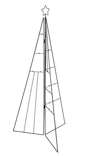 Spetebo Metallständer zum dekorieren - 115 cm - Design Metall Tannenbaum für Zierschmuck - Deko Weihnachtsbaum Tanne