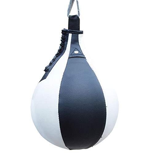 Boxball Professioneller Anti-Verschleiß-Hängetraining strapazierfähiges PU Speed Training Elastischer Gurt Anti-Explosion Sport Supplies Free Size schwarz/weiß