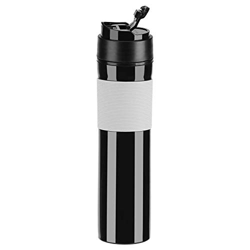 Fdit Portátil Mini Máquina de Espresso Mano Presión Caffe Máquina de Espresso Compacto Manual Cafetera para Oficina Casa Viajes Aire Libre (Negro)