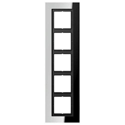 Preisvergleich Produktbild Jung LSP 985 GCR Rahmen 5-fach Corian glanzchrom f.waager./senkr.Kombi./LS990