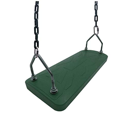 LOO LA Kinder-Kids Garten Plastikschaukel, Wetter widerstandsfähig, Adjustable Ropes Outdoor Gartensitz,Green